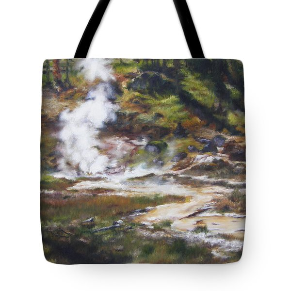 Trail To The Artists Paint Pots - Yellowstone Tote Bag by Lori Brackett