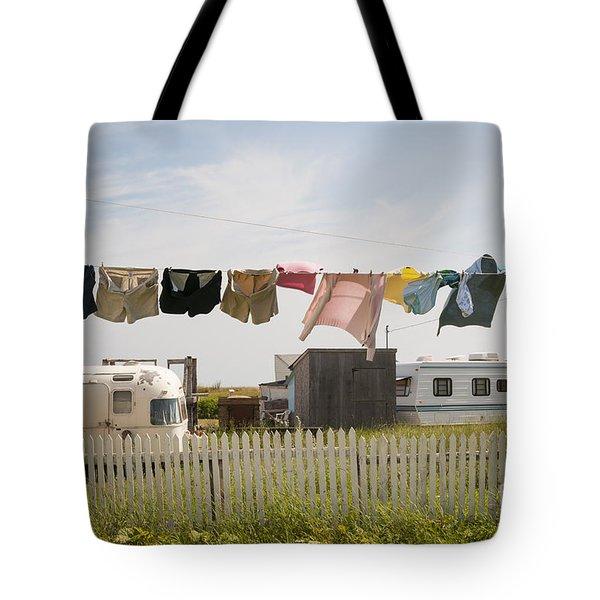 Trailers In North Rustico Tote Bag by Elena Elisseeva