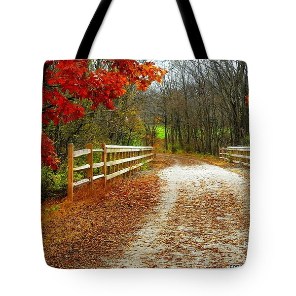 Trailing In Autumn Tote Bag