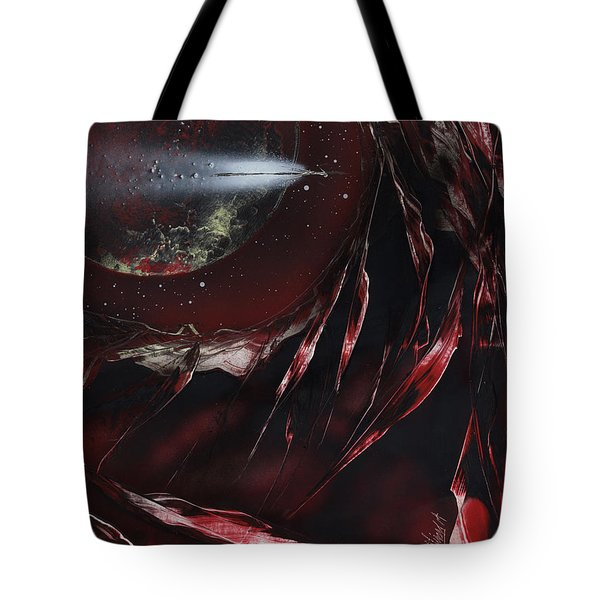 Tote Bag featuring the painting Trails End by Jason Girard