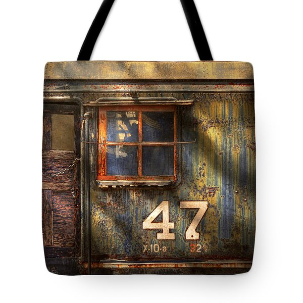 Train - A Door With Character Tote Bag by Mike Savad