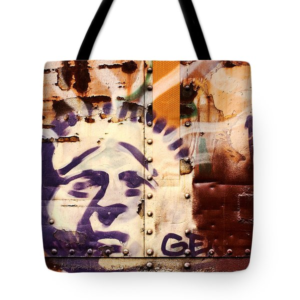 Train Art Statue Of Liberty Tote Bag by Carol Leigh