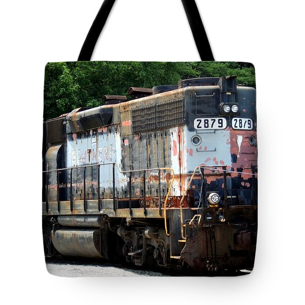 Train Engine #2879 Tote Bag by Mark Moore