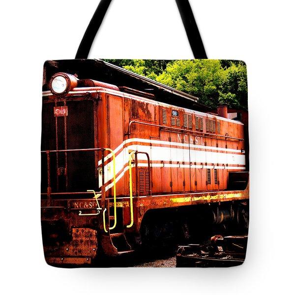 Train Engine Nc Sl  Tote Bag by Mark Moore