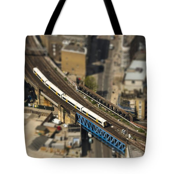 Train In London Tote Bag