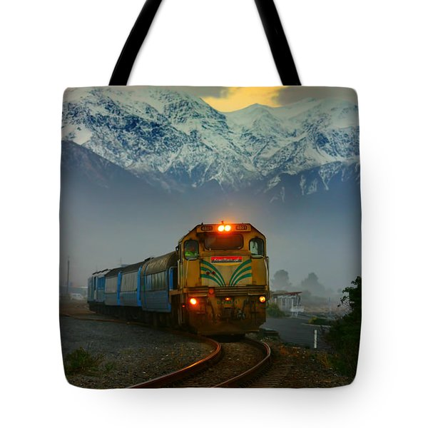Train In New Zealand Tote Bag