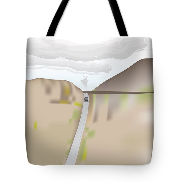 Train Landscape Tote Bag