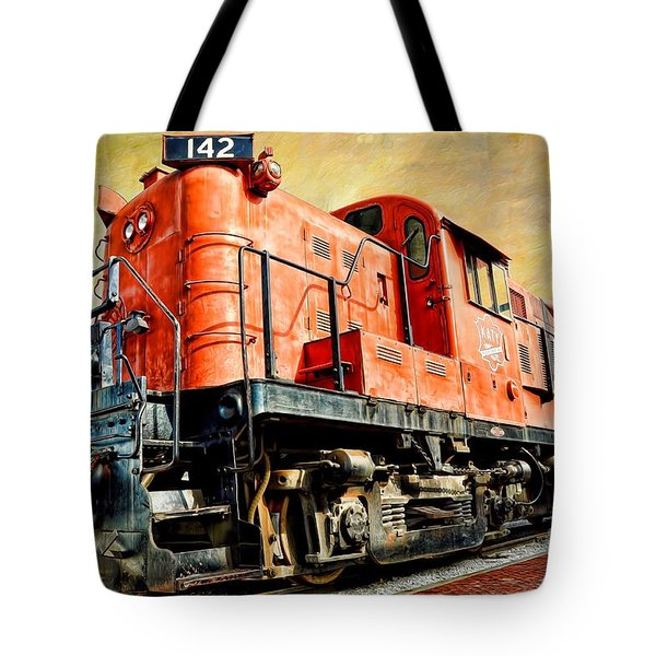 Train - Mkt 142 - Rs3m Emd Repowered Alco Tote Bag by Liane Wright