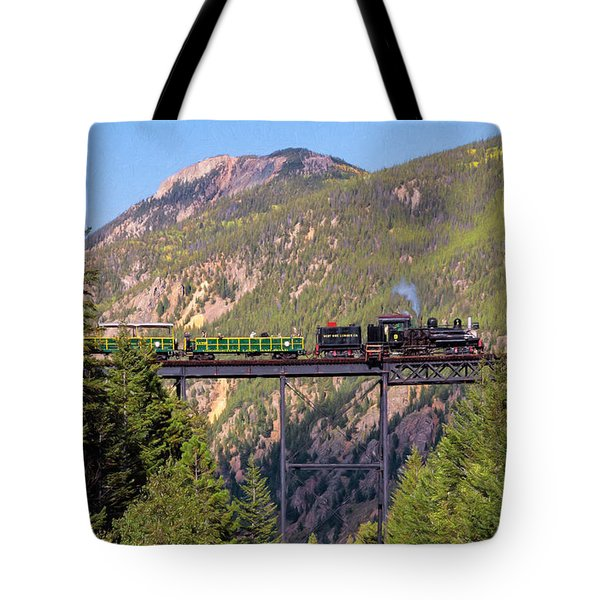 Train Over The Trestle Tote Bag