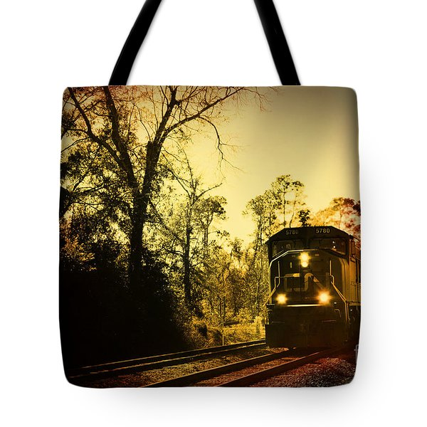 Train Ride Tote Bag by Janice Spivey
