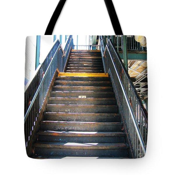 Train Staircase Tote Bag