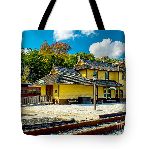 Train Station In Tuckahoe Tote Bag