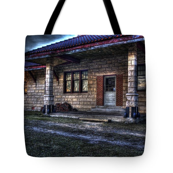 Train Stop Tote Bag by Thomas Young