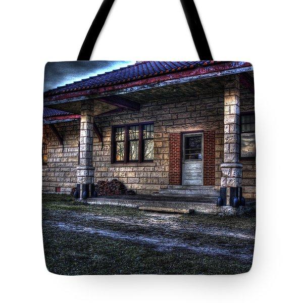 Train Stop Tote Bag