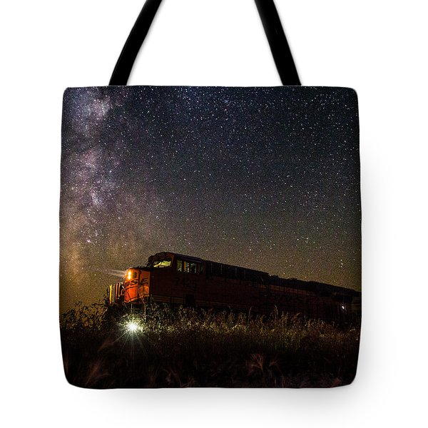 Train To The Cosmos Tote Bag