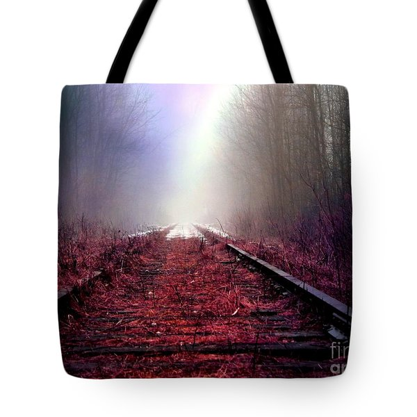 Tote Bag featuring the photograph Train Track by France Laliberte
