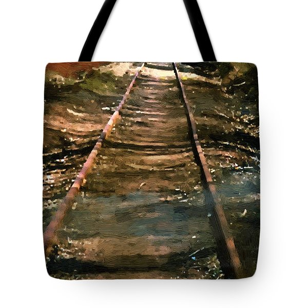 Train Track To Hell Tote Bag