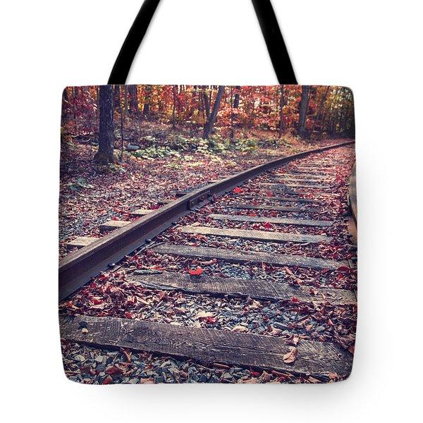 Train Tracks Tote Bag by Edward Fielding