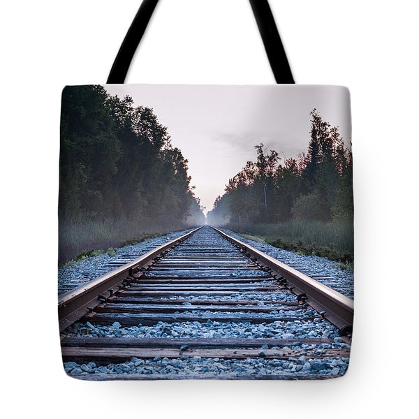 Tote Bag featuring the photograph Train Tracks To Nowhere by Patrick Shupert