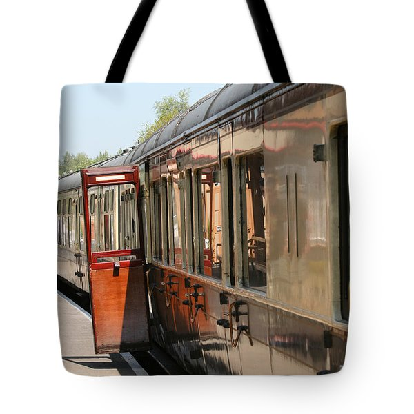 Train Transport Tote Bag