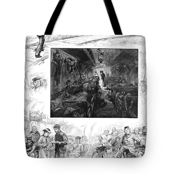 Train Travel, 1883 Tote Bag