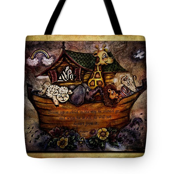 Train Up A Child Tote Bag by La Rae  Roberts