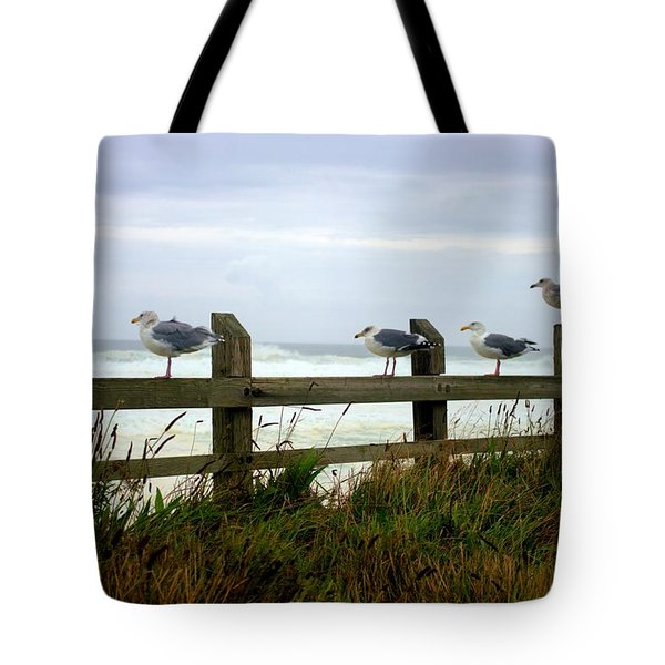 Trained Gulls Tote Bag by John  Greaves