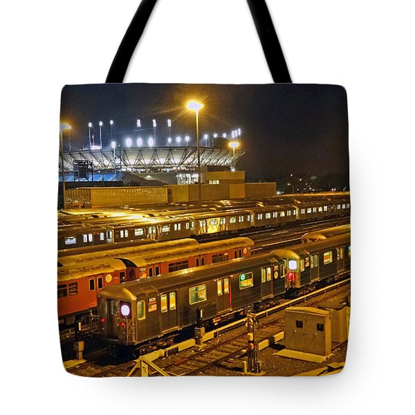 Trains Nyc Tote Bag by Jeffrey Friedkin
