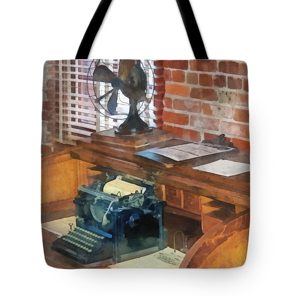 Trains - Station Master's Office Tote Bag by Susan Savad
