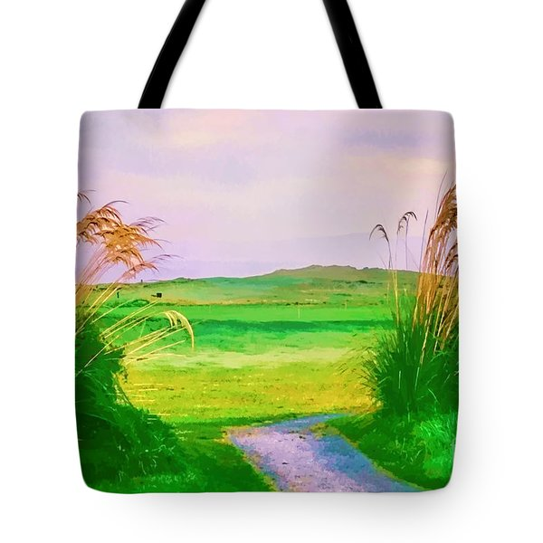Tralee Ireland Water Color Effect Tote Bag