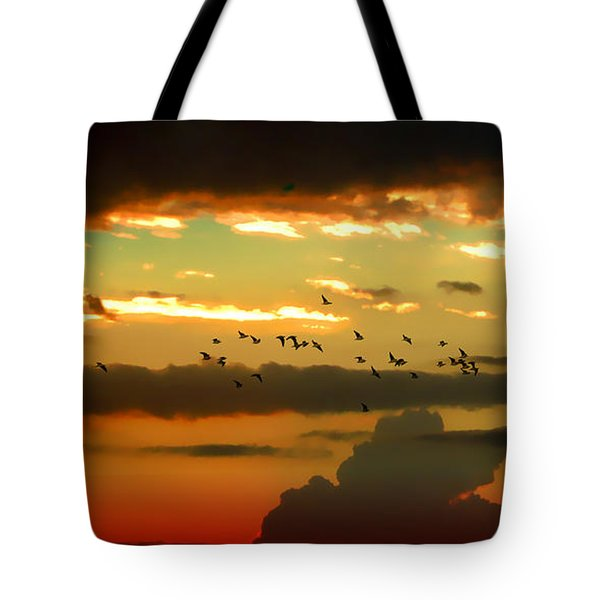 Tote Bag featuring the photograph Sunset 1 by Ze  Di