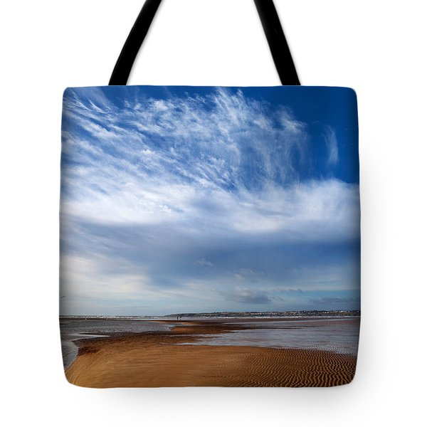 Tramore Strand And Town From The Dunes Tote Bag