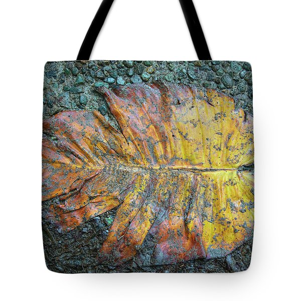 Tote Bag featuring the photograph Trampled Leaf by Britt Runyon