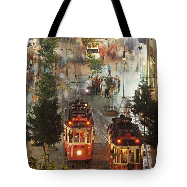 Trams In Beyoglu Tote Bag