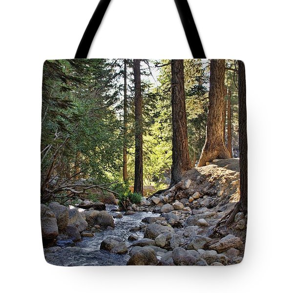 Tranquil Forest Tote Bag by Peggy Hughes