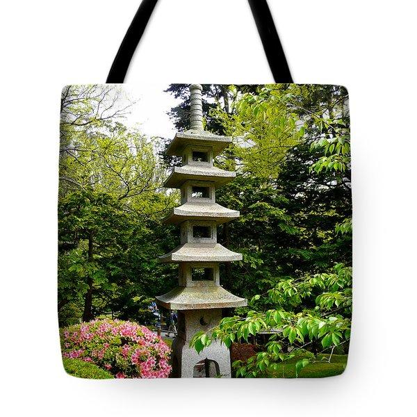 Tranquil Japanese Garden Tote Bag by Avis  Noelle