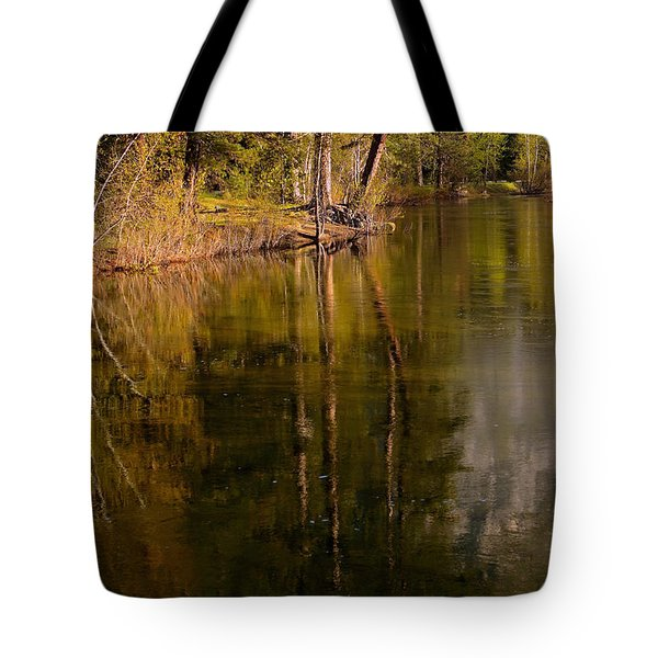 Tranquil Merced River Tote Bag