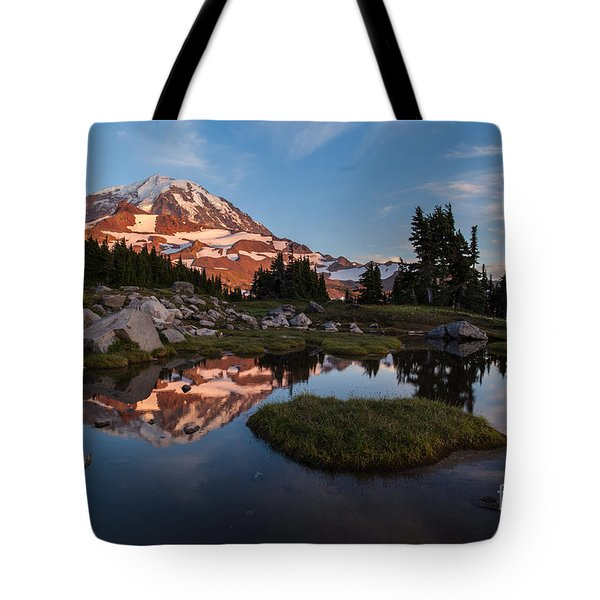 Tranquil Mountain Pool Tote Bag