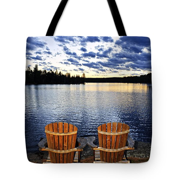 Tranquility At Sunset Tote Bag by Elena Elisseeva