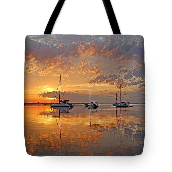 Tranquility Bay - Florida Sunrise Tote Bag