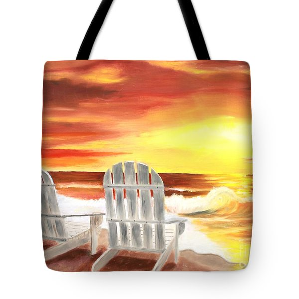 Tote Bag featuring the painting Tranquility by Bev Conover