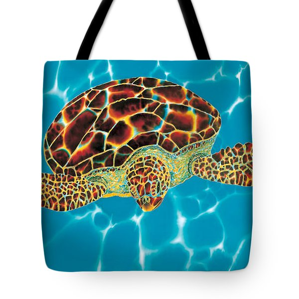 Caribbean Sea Turtle Tote Bag