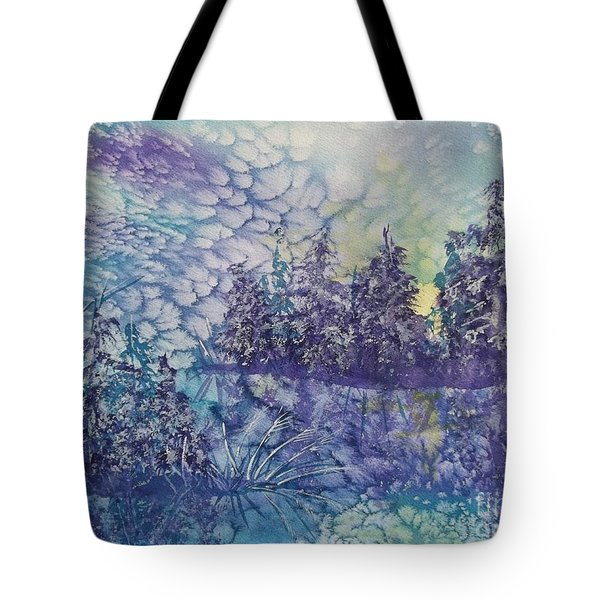 Tote Bag featuring the painting Tranquility by Ellen Levinson