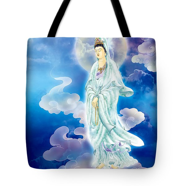 Tote Bag featuring the photograph Tranquility Enabling Kuan Yin by Lanjee Chee