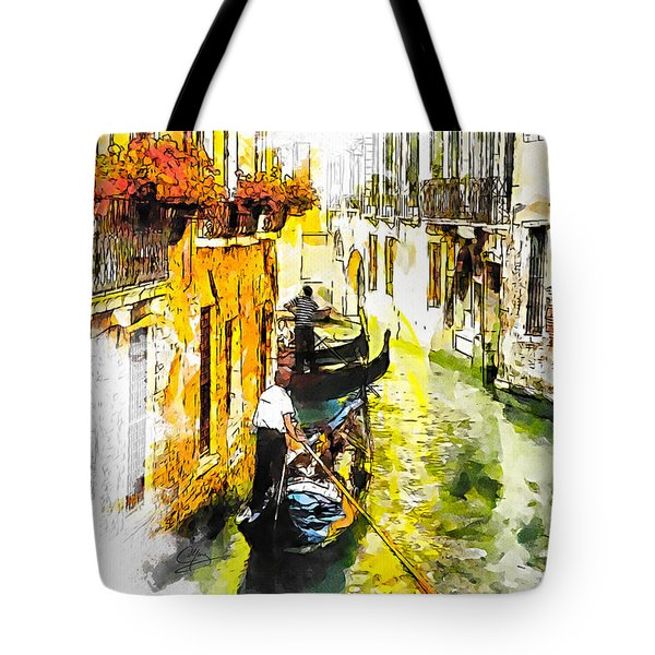 Tote Bag featuring the painting Tranquillity by Greg Collins