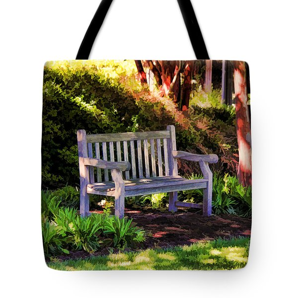 Tranquility In The Park Tote Bag
