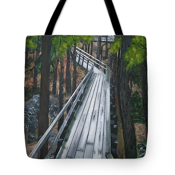 Tote Bag featuring the painting Tranquility Trail by Sharon Duguay