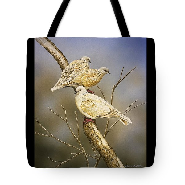 Tranquillity - Ring-necked Doves Tote Bag