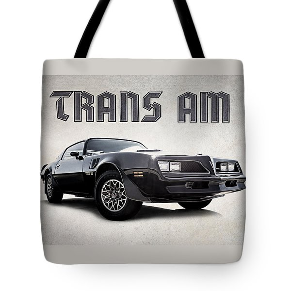 Tote Bag featuring the digital art Trans Am by Douglas Pittman