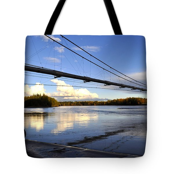 Tote Bag featuring the photograph Transalaska Pipeline Bridge by Cathy Mahnke